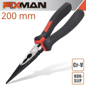 "FIXMAN INDUSTRIAL LONG NOSE PLIERS 8""/200MM"