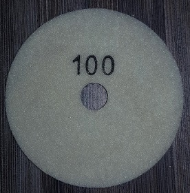 Diamond Polishing Pad 100Gritt - White