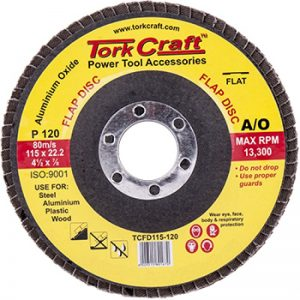 FLAP SANDING DISC 115MM 120GRIT
